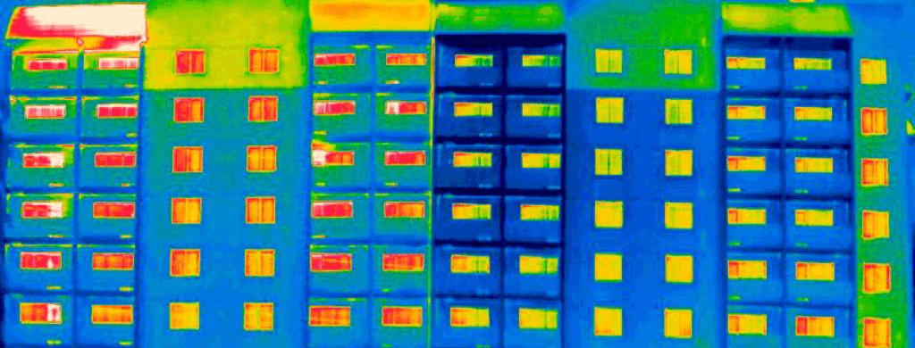 испытания на воздухопроницаемость с тепловизионным обследованием