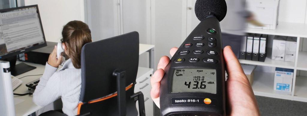 Измерение уровня шума в жилых и административных помещениях